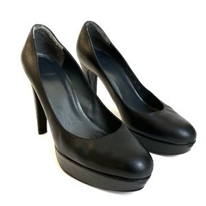 Stuart Weitzman Black High Heel Platform Pumps